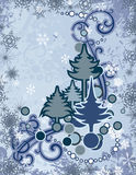 Abstracte de winterreeks Stock Afbeelding