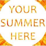 Abstracte de zomerachtergrond Stock Fotografie