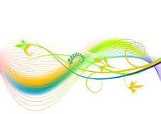 Abstracte de zomerachtergrond - regenboog