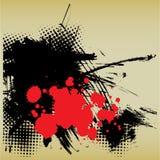 Abstracte deco grunge achtergrond van de kunst Stock Foto's