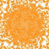 Abstracte decoratieachtergrond met bloemelementen, vectorillu Royalty-vrije Stock Fotografie