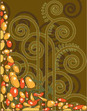 Abstracte decoratieve achtergrond Stock Afbeeldingen