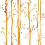 Abstracte decoratieve bomen De herfst bos Decoratieve steeg Naadloos patroon vector illustratie