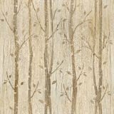 Abstracte decoratieve bomen - houten textuur vector illustratie