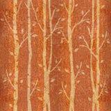 Abstracte decoratieve bomen - naadloze achtergrond - Karpatische Iep Stock Fotografie