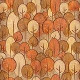 Abstracte decoratieve bomen - naadloze achtergrond - Karpatische Iep Stock Foto