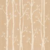 Abstracte decoratieve bomen - naadloze achtergrond - Wit Eiken hout Stock Afbeeldingen