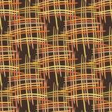 Abstracte decoratieve houten gestreepte geweven mandewerkachtergrond Naadloos patroon Vector Stock Afbeelding