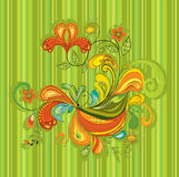 Abstracte decoratieve illustratie Stock Afbeeldingen