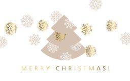 Abstracte decoratieve Kerstmis vectorillustratie Stock Afbeeldingen