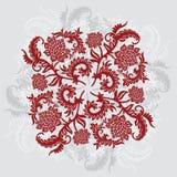 Abstracte decoratieve sierachtergrond met bloem, vectorIL Stock Foto