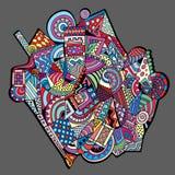 Abstracte decoratieve vectorachtergrond Royalty-vrije Stock Fotografie