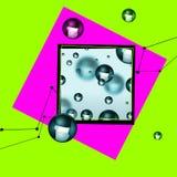 Abstracte deeltjesachtergrond Royalty-vrije Stock Fotografie