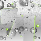 Abstracte deeltjesachtergrond Stock Foto