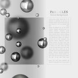 Abstracte deeltjesachtergrond Royalty-vrije Stock Afbeeldingen