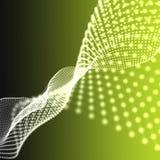 Abstracte deeltjesachtergrond De stijl van de technologie Onduidelijk beeld abstracte ye Stock Afbeeldingen