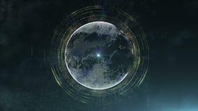 Abstracte deeltjesplaneet royalty-vrije illustratie