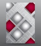 Abstracte dekking met vierkanten Stock Foto's