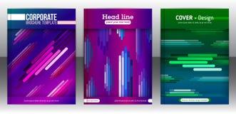Abstracte diagonale, verticale en horisontal kleurrijke lijnen Royalty-vrije Stock Afbeeldingen