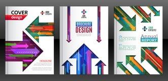 Abstracte diagonale, verticale en horizontale kleurrijke pijlen Royalty-vrije Stock Fotografie