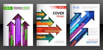 Abstracte diagonale, verticale en horizontale kleurrijke pijlen Stock Foto's