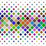 Abstracte diagonale vierkante patroonachtergrond - geometrische vector grafisch van vierkanten Stock Fotografie