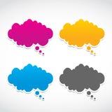 Abstracte dialoogwolken Stock Fotografie