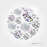 Abstracte diamantachtergrond Stock Fotografie