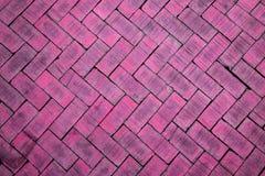 Abstracte dichte omhooggaand van een roze baksteen van het zigzagpatroon (de baksteen op F Royalty-vrije Stock Foto