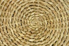 Abstracte dichte omhooggaand van geweven natuurlijke bamboetextuur Royalty-vrije Stock Afbeeldingen