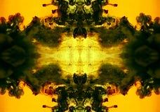 Abstracte die Achtergrond met inkt in water wordt gemaakt royalty-vrije stock foto