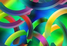 Warme koude kleuren abstract ontwerp met vloeiende lijnen in