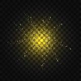 Abstracte die achtergrond van gouden fonkelende confettien wordt gemaakt Stock Foto's