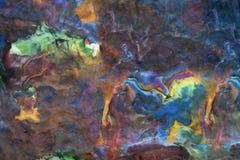 Abstracte die achtergrond van Spelklei wordt gemaakt Stock Fotografie