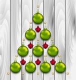 Abstracte die Boom van Kerstmisballen wordt gemaakt Royalty-vrije Stock Foto's