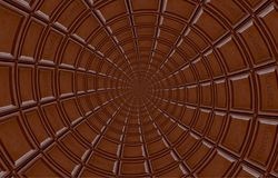 Abstracte die melkchocola om spiraal van chocoladereep wordt gemaakt Draaisamenvatting Chocolade achtergrondpatroon Donkere choco royalty-vrije stock foto's