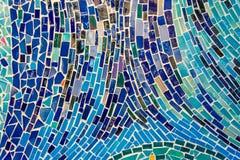 Abstracte die muur van kleurrijke tegeltextuur wordt verfraaid. Royalty-vrije Stock Afbeeldingen