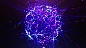 Abstracte die neonbal van lijnen wordt gemaakt vector illustratie