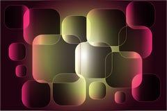 Abstracte die samenstelling van vierkanten bovenop elkaar worden geplaatst royalty-vrije illustratie