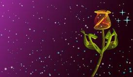 Abstracte die Tulip Flower van lijnen op donkerrood wordt gemaakt royalty-vrije illustratie