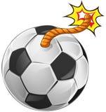 Abstracte die voetbal als een bom gestalte wordt gegeven vector illustratie