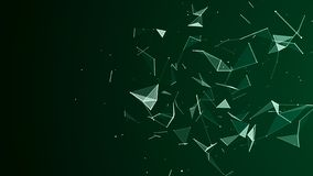 Abstracte digitale achtergrond Kosmische deeltjes Het effect van vlecht Grote gegevensvisualisatie het 3d teruggeven vector illustratie