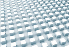 Abstracte digitale achtergrond met lichtblauwe kubussenserie Royalty-vrije Stock Afbeeldingen