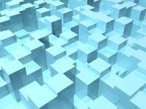 Abstracte digitale achtergrond met willekeurige 3d dozen vector illustratie