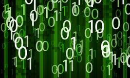 Abstracte digitale binaire achtergrond Stock Fotografie