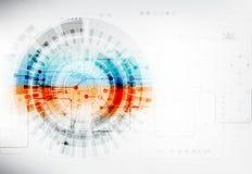 Abstracte digitale communicatietechnologieachtergrond royalty-vrije illustratie