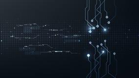 Abstracte digitale de verbindings van Internet van technologie futuristische cyber vector als achtergrond vector illustratie