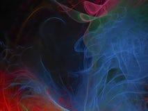 Abstracte digitale fractal, behandelt kleurrijk stijlmalplaatje, magisch creatief ontwerp, futuristische mooie gloed stock fotografie