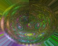 Abstracte digitale fractal, de motie van het fantasieontwerp rende, werveling royalty-vrije illustratie
