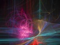 Abstracte digitale fractal, futuristisch stijlmalplaatje, magisch creatief ontwerp, futuristische mooie gloed royalty-vrije stock afbeelding